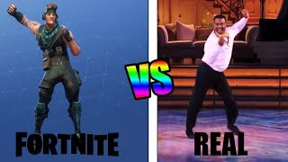 ALL FORTNITE BAILES IN REAL LIFE! * NEW 2018* (Backpack Kid, Electro Shuffle, etc)