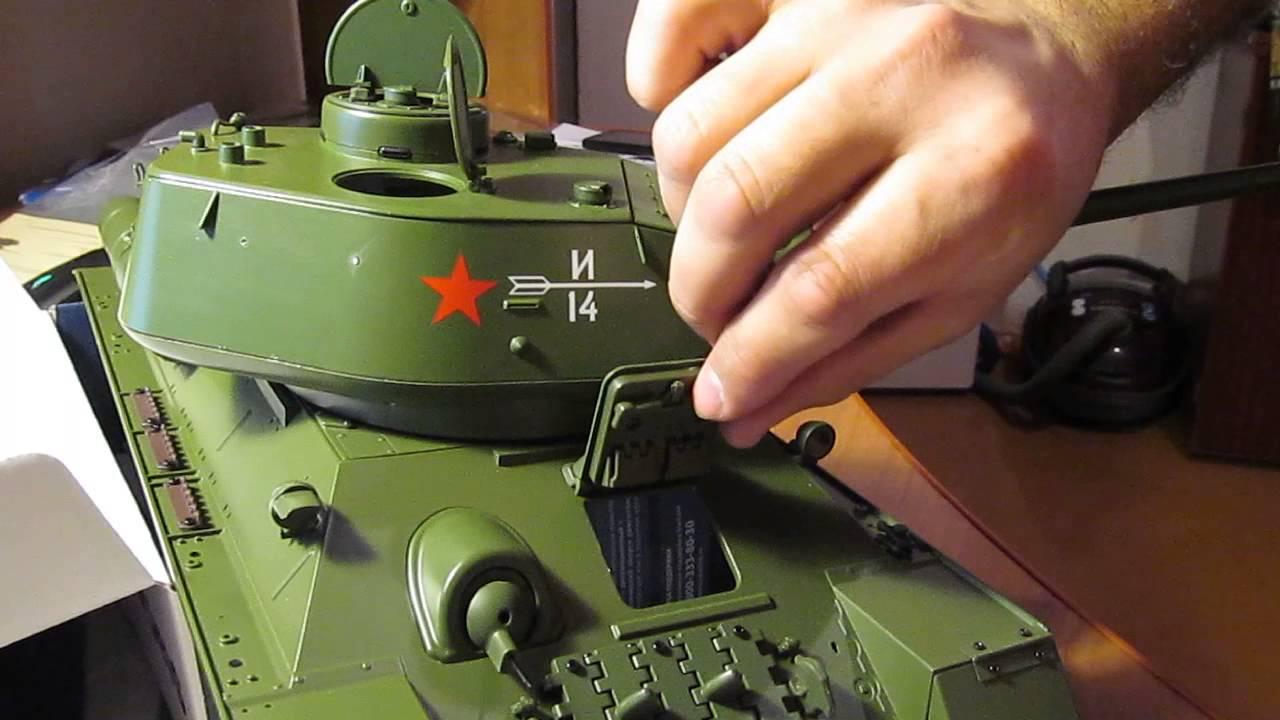 Сборная модель Танк Т-34 - YouTube