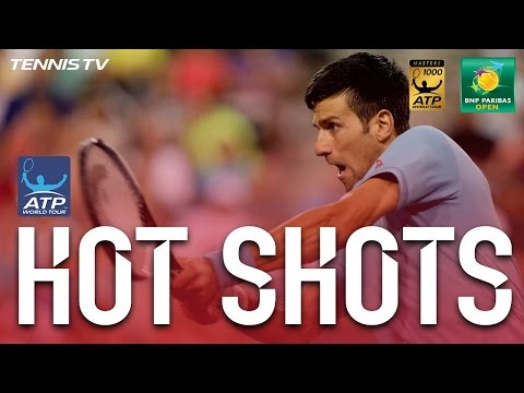 Hot Shot: Djokovic Quick Hands At Indian Wells 2017