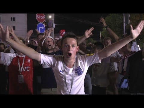 England Fans Sing In Volgograd After World Cup Win - Russia 2018