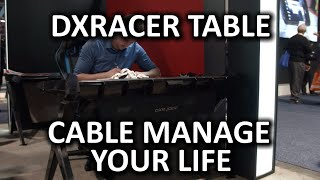 DXRacer Gaming Table Prototype - CES 2015