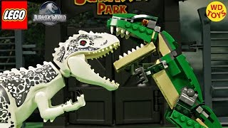 New Lego Creator Mighty Dinosaurs TRex Vs Indominus Rex Jurassic World Speed Build Unboxing 31058