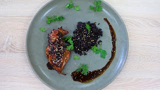 Куриная грудка Терияки и Чёрный рис / Teriyaki Chicken Breast and Black rice