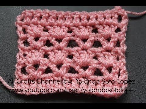 Aprenda a tejer un Patron para mantita o bufanda en crochet