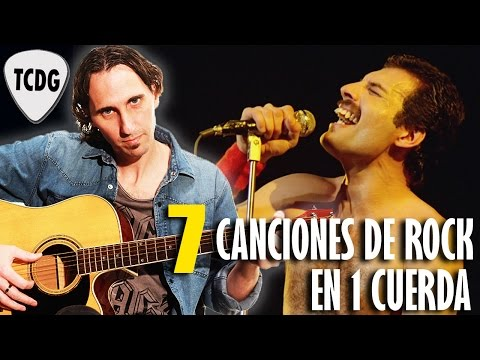 Learn 7 Great Rock Songs On 1 String For Acoustic & Electric Guitar! Beginners Lesson TCDG
