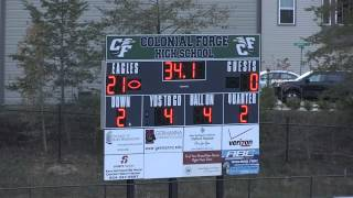 freshmen high school football colonial forge vs mountain view 20 oct 2014