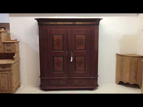 18th Century Painted Pine Wardrobe for sale - Pinefinders Old Pine Furniture Warehouse