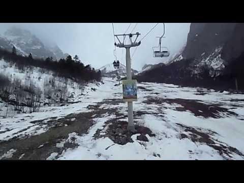 2) ЦЕЙ - КАНАТКА ДО 2500 м ( СЕВ.ОСЕТИЯ-АЛАНИЯ). ЛЫЖНАЯ БАЗА ПОСЛЕ СЕЗОНА...