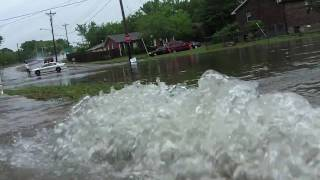 I had to go let out a friends dog during some the state's worst flooding, took along few cameras and my wife survey any flooding we might encount...