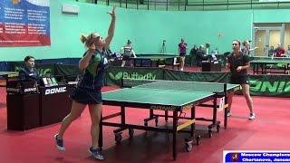 Анна РОССИХИНА - Светлана МАРТЫНОВА Настольный теннис, Table Tennis