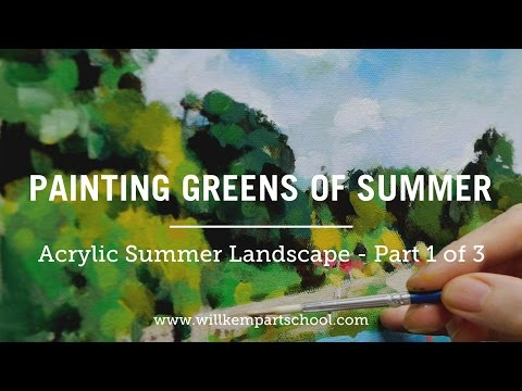 How to Paint Green Summer Trees with Acrylics – Part 1 of 3