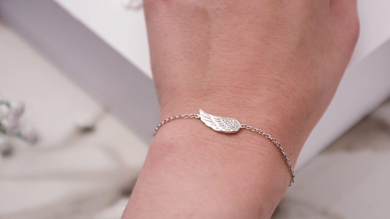 DIAMOND ANGEL WING BRACELET (INCLUDES 10 DIAMONDS) by Ashley Bridget ...