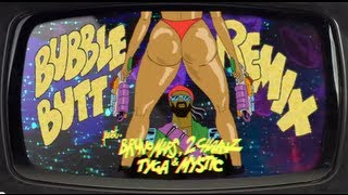 Bubble Butt Remix (feat. Bruno Mars, 2 Chainz, Tyga & Mystic) - OFFICIAL LYRIC VIDEO HQ