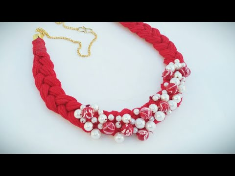 Easy Handmade Necklace At Home | DIY Pearl Necklace Making | Beautiful Thread Necklace Ideas