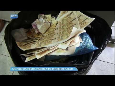 Polícia descobre 'casa da moeda' e apreende R$ 3 milhões em dinheiro falso