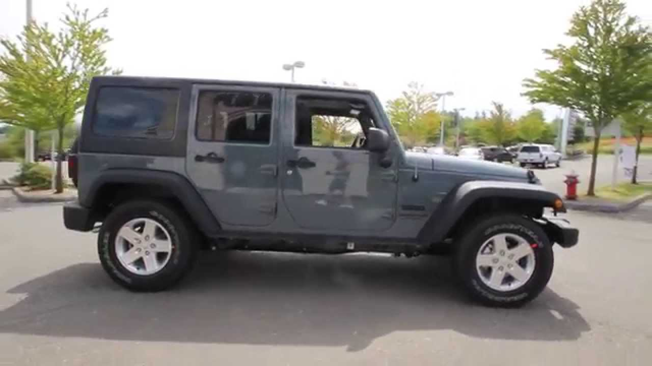 2014 jeep wrangler unlimited sport | anvil gray | el319959
