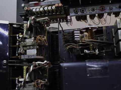 Leitungswähler 29 mit Steuerschalter; Telephone exchange