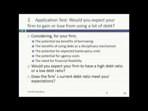 Session 17 (MBA): The MM Theorem & Cost of capital approach