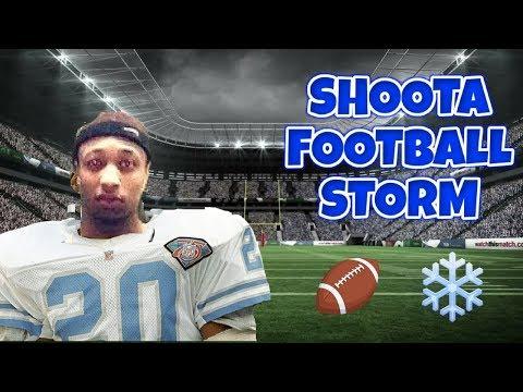 SHOOTA FOOTBALL SNOW-STORM VLOG