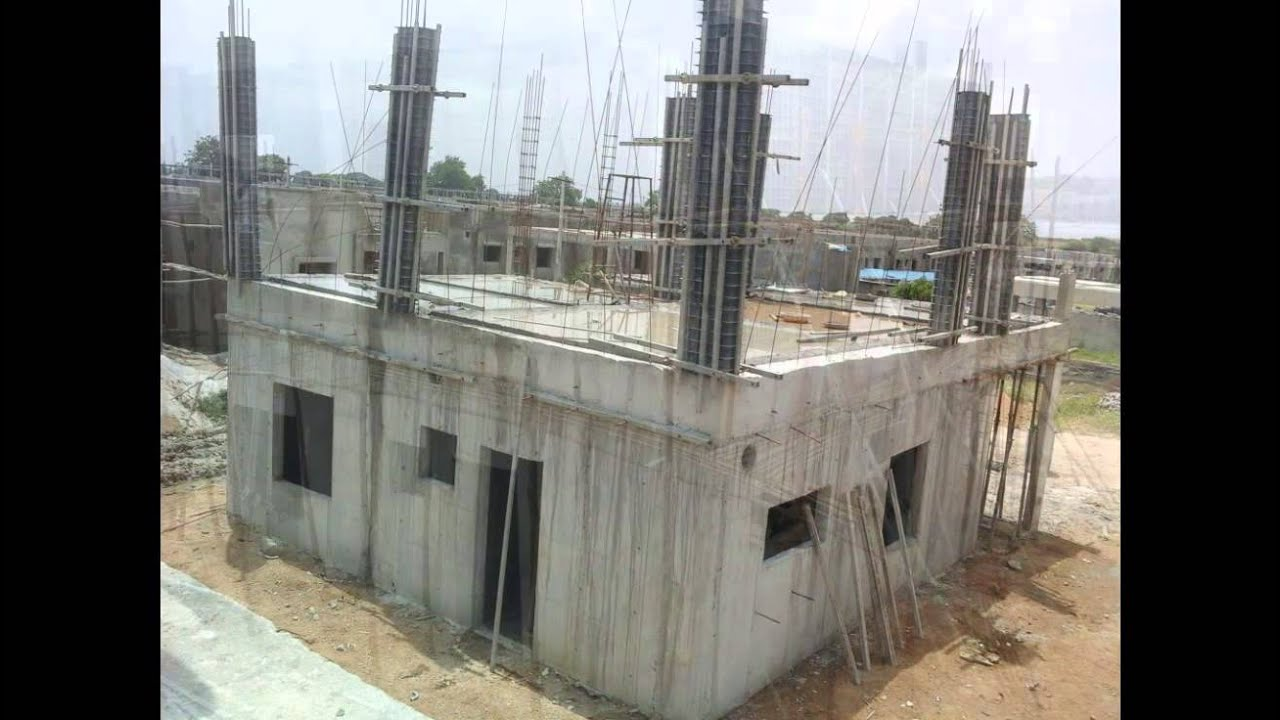 House Construction Process With Siscon Plastic Formwork