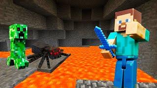 Майнкрафт видео игра – Исследуем заброшенную шахту! – Minecraft летсплей шоу с Нубом.