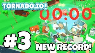 NEW 100% *SOLO* Tornado Challenge! HIGH SCORE! | TORNADO.IO! | Tornado.io Gameplay Part 3