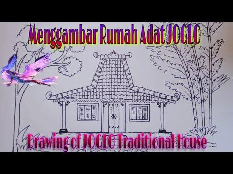 Joglo Cara Menggambar Rumah Adat Jawa Joglo Drawing Of Javanese Traditional House Youtube