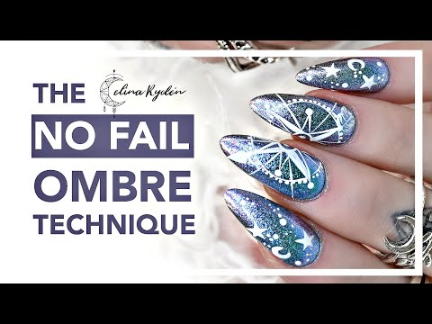 THE NO FAIL OMBRE NAILS TECHNIQUE - IMPOSSIBLE TO FAIL! GEL NAILS TUTORIAL   BONUS NAIL ART TUTORIAL