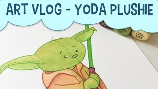 Video Art Vlog | Yoda Plushie Drawing With Copics | Star Wars Fan Art download MP3, 3GP, MP4, WEBM, AVI, FLV November 2017
