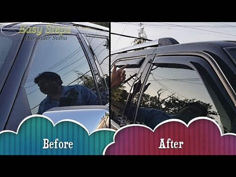 How to Install Window Visor | Rain Guard on Lincoln Navigator | In Channel Window Visors