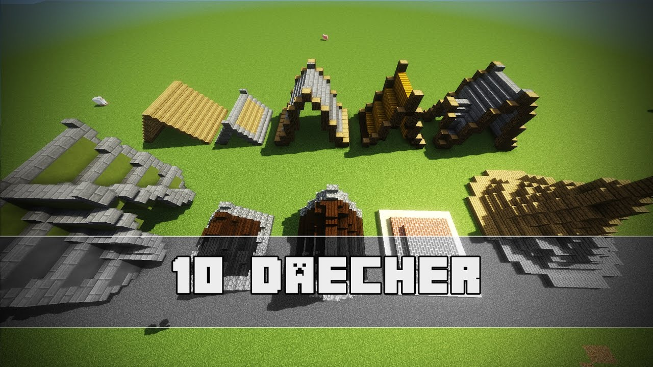 10 einfache dach designs minecraft tutorial youtube - Minecraft dach bauen ...