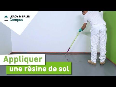 Comment Appliquer Une Resine De Sol Leroy Merlin Youtube