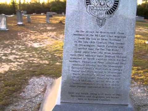 McCleod  - Scotland Cemetery in Greene County Mississippi