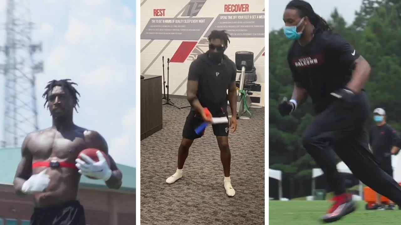 Calvin Ridley HUNGRY Puts In Extra Work After Practice, Julio Jones & Todd Gurley READY