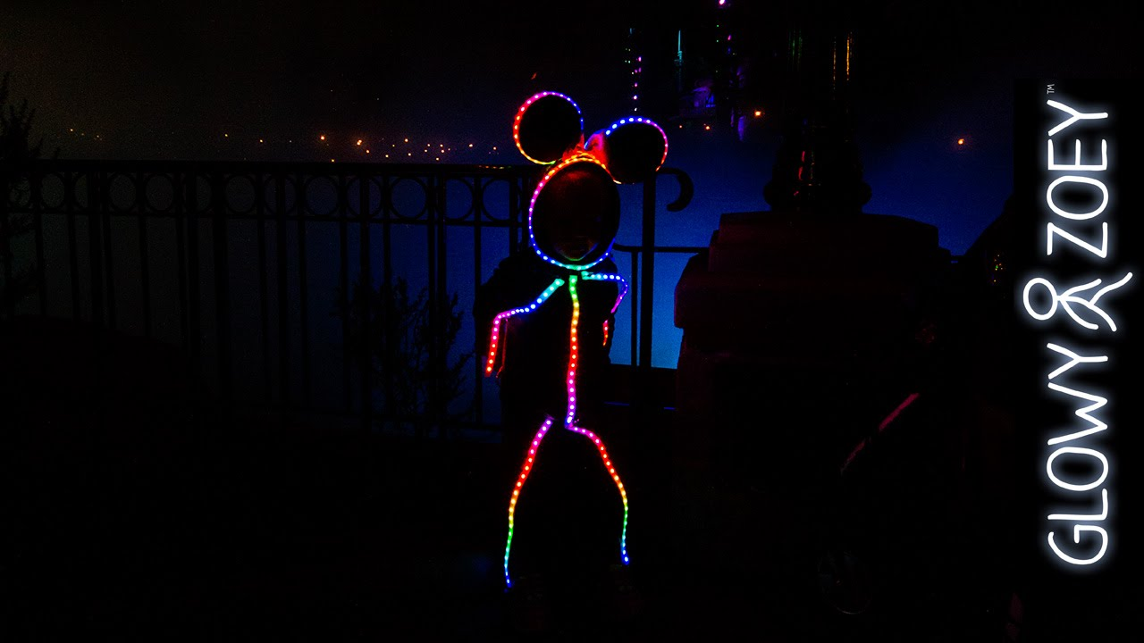 led halloween costume version 20 minnie mouse edition for glowy zoey youtube - Halloween Led Costume