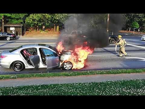 Car fire in Norcross