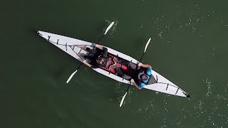 """""""First origami tandem kayak"""" folds down to suitcase size"""