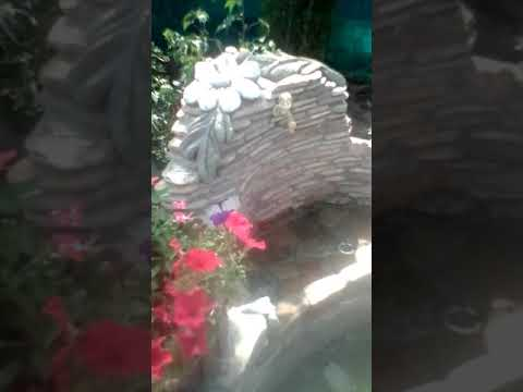 Декоративный кран из речного  камня своими руками