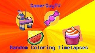 Random Coloring timelapes 2!