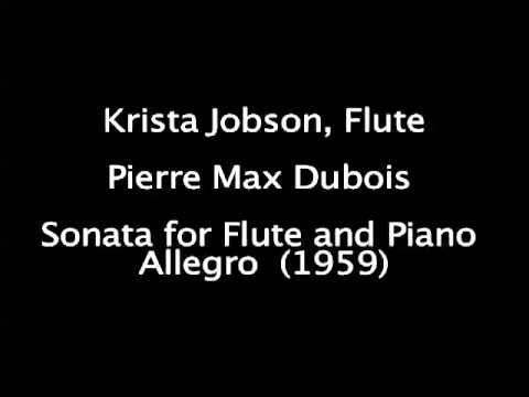 Dubois Sonata for Flute and Piano, mvt. 1
