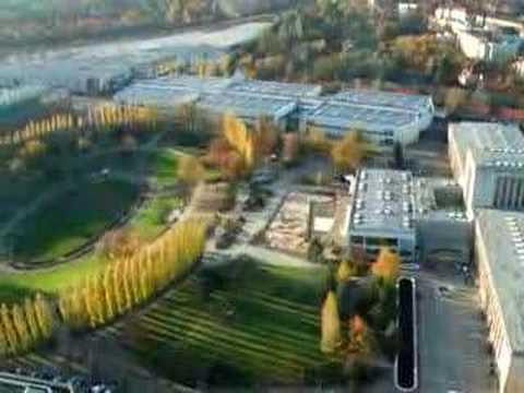 Aerial View of Messe Berlin Sommergarten from Radio Tower, Berlin, Germany - November 2006