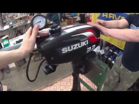 Замерить компрессию в лодочном моторе