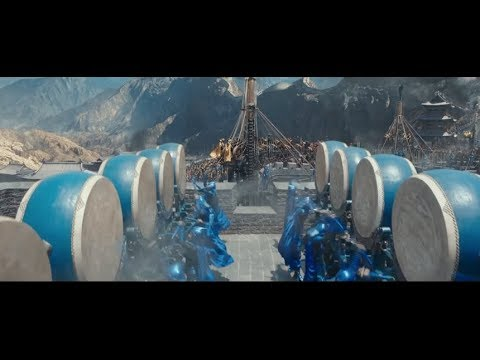The Great Wall First Battle Scene when the Drums get sounded