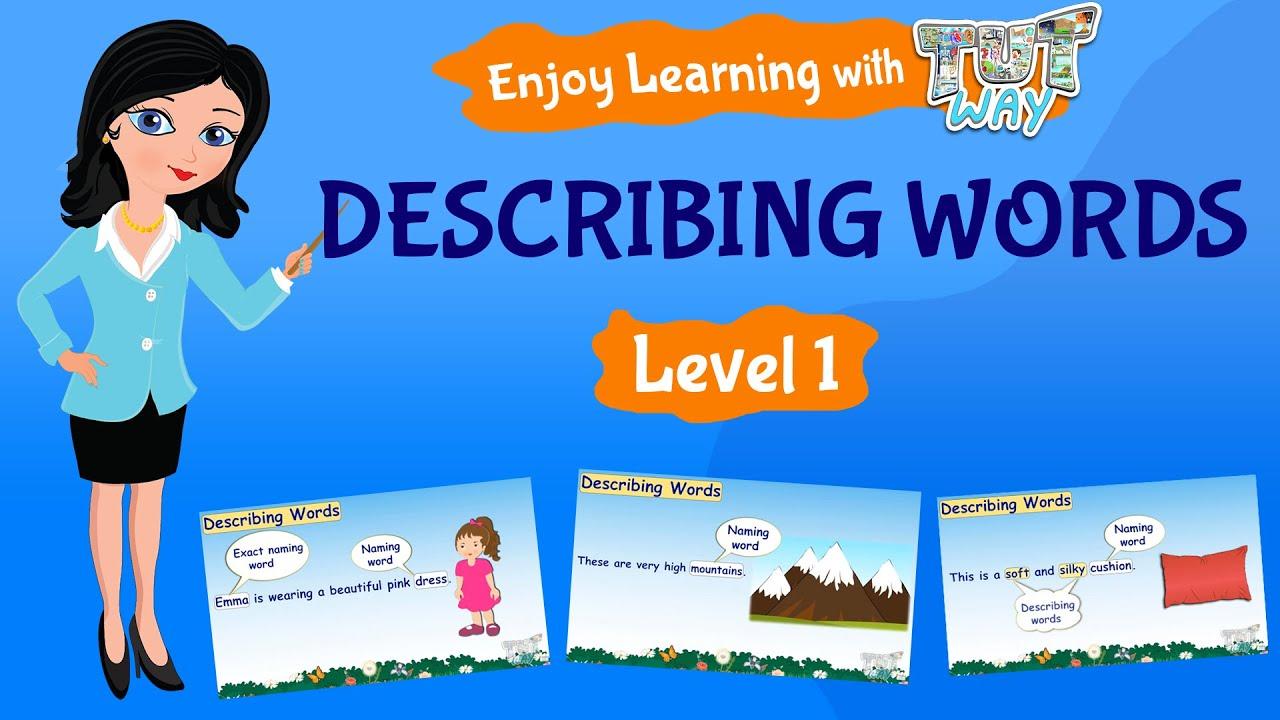 hight resolution of Describing words   English   Grade-1