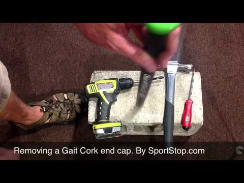 fbe2a9f79a352 Installing   Removing the GAIT Cork Lacrosse End Cap - SportStop.com ...