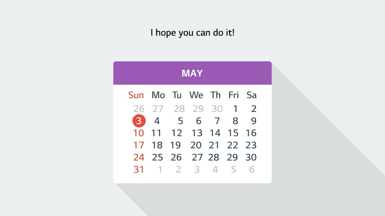 Calendar Flat Illustration : Flat design calendar youtube