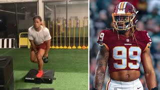 Chase Young, Washington Redskins DE PUTS IN WORK while Cole Holcomb Goes Fishing!