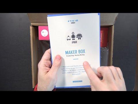 Maker Box Quarterly DIY Subscription Box Unboxing! #MKR01