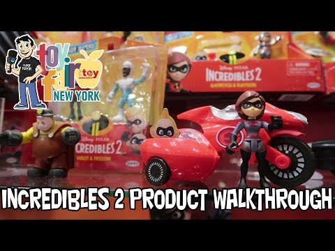 The Incredibles 2 Jakks Pacific Product Walkthrough at New York Toy Fair 2018
