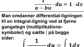Den logistiske differentialligning med tæller a/b